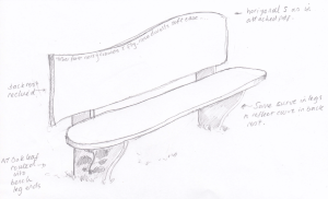 Bath bench sketch